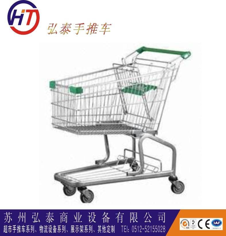 supermarket wheeled best selling metal marketeer shopping trolleys with seat board