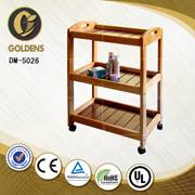 wooden rolling nail trolley