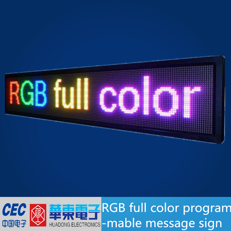 RGB Color LED Programmable Message Sign, led display