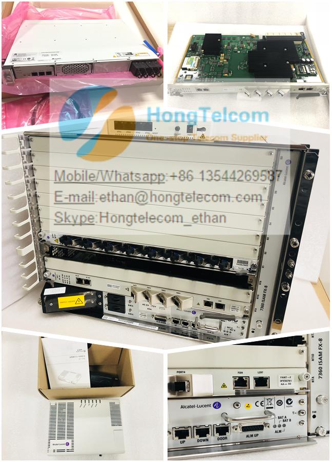 Alcatel Lucent ISAM 7360-FX8 GPON OLT FANT-F FGLT-B ETP48100-B1 220V AC