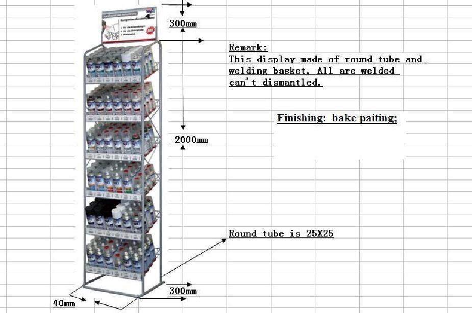 metal supermarket shelf, wire gondola shelf