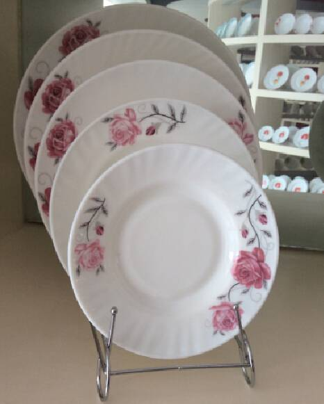 20pcs Plate Sets Opal Glass Mircowave Safe
