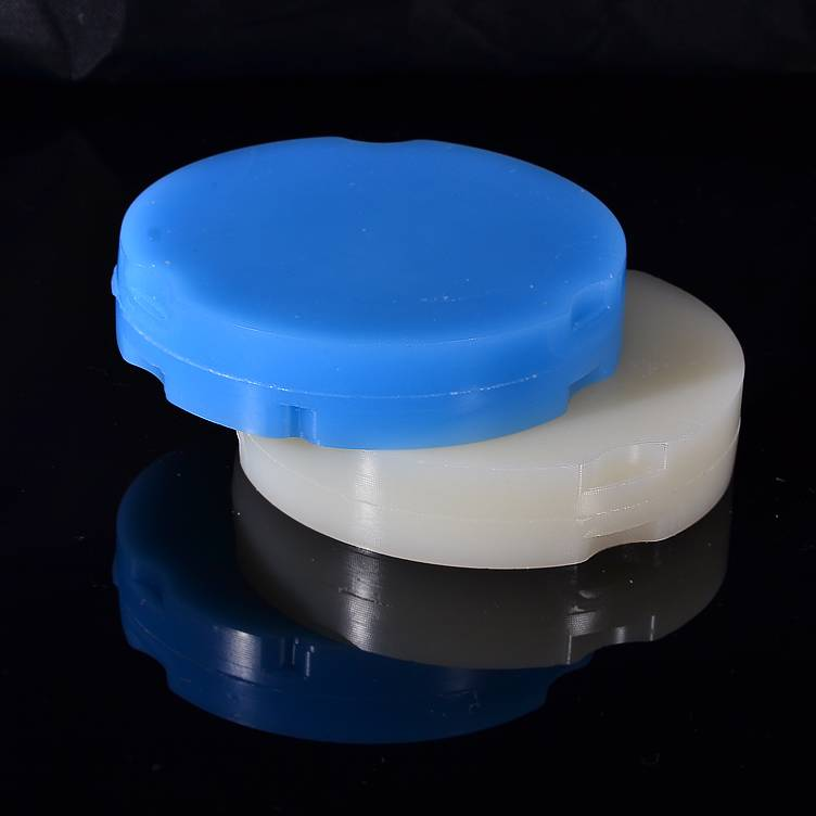 100% burn out resin white wax disk dental cad cam milling wax blank for Zirkonzahn dental raw materi