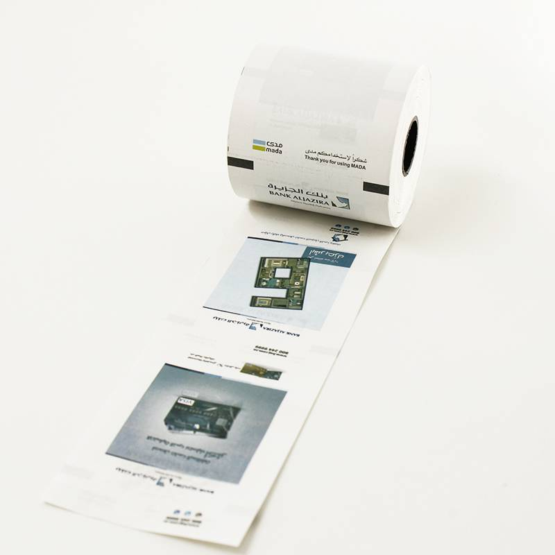 colored printing ATM thermal paper roll