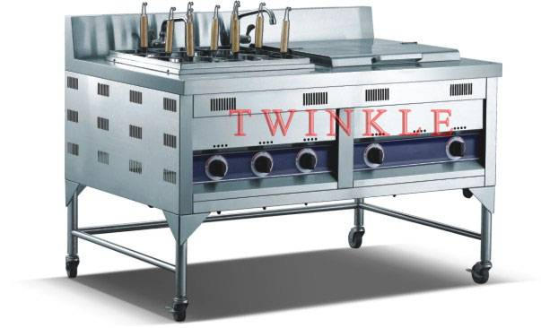 Commercial Gas Noodle Cooker With Bain Marie (HNB-13G)