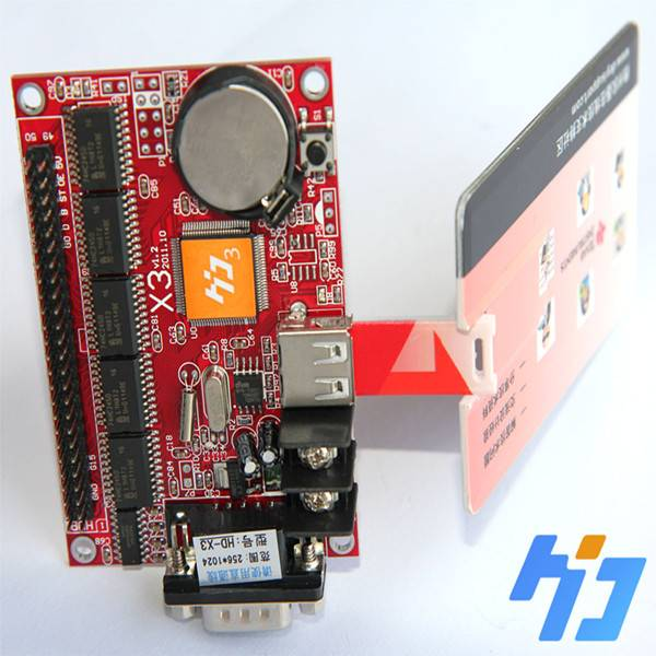 led display controller for led signs X3,256*512,usb port,7 color effect