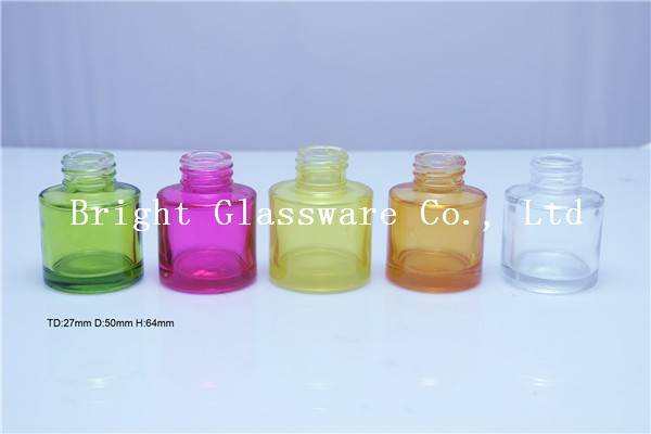 custom colorful glass perfume bottle use in car