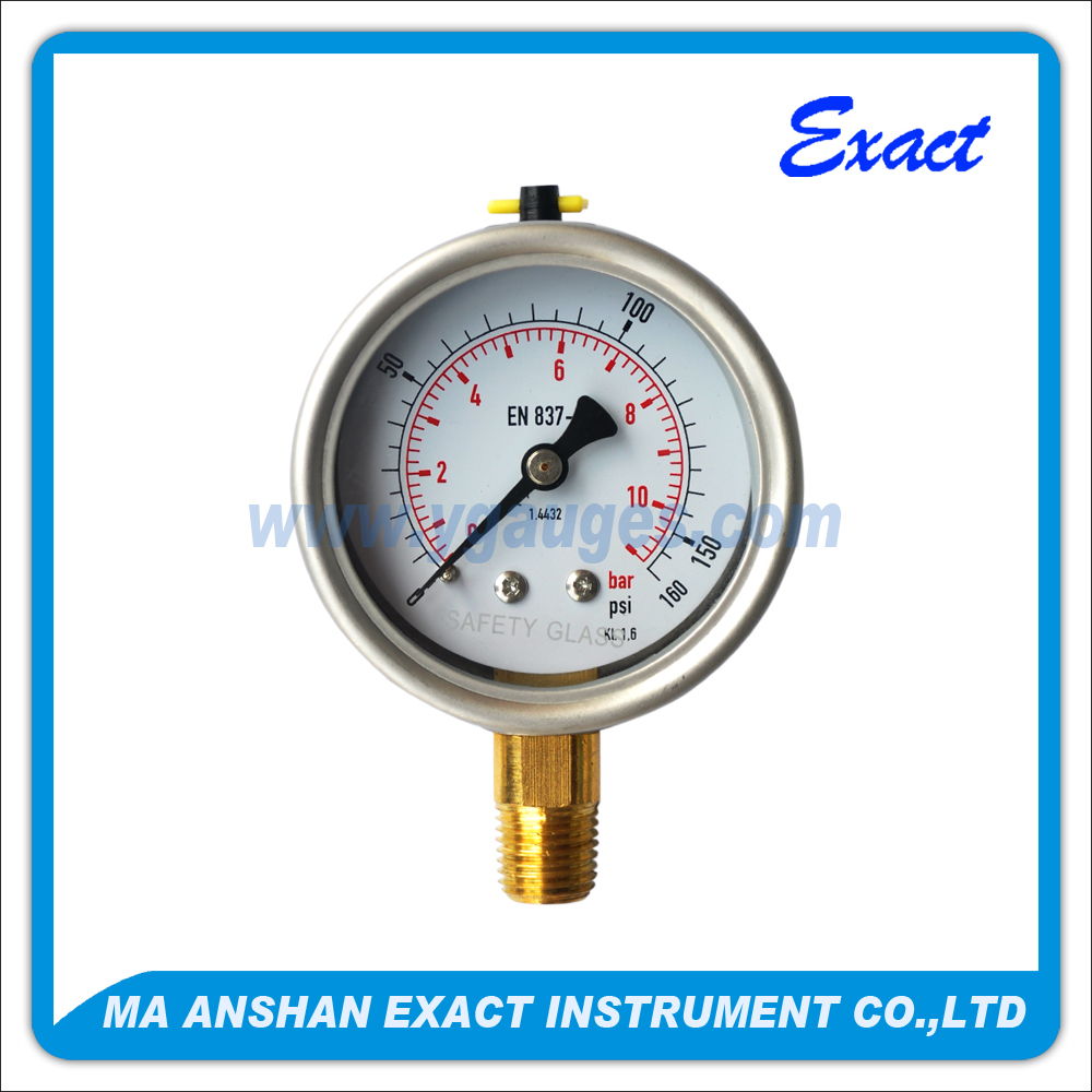 Hgh Quality Filled Pressure Gauge