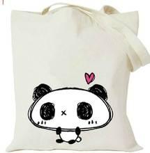 Silk screen cotton shopping bag