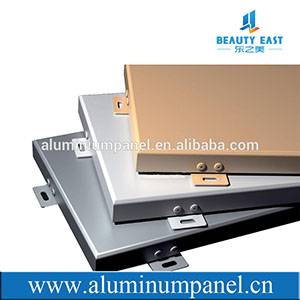 Aluminum solid panel for building wall