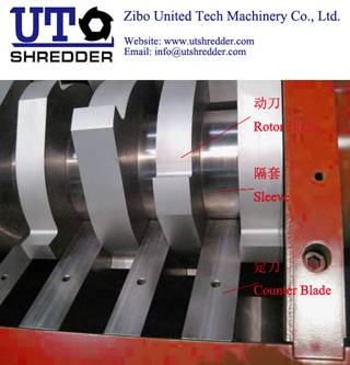 Double Shaft Shredder D2830 - tire shredder, plastic shredder, medical waste crusher
