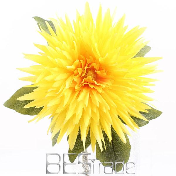 Wholesale China artificial silk yellow flowers