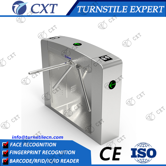 Electronic Tripod Turnstile integrating RFID /Fingerprint/biometric access control system