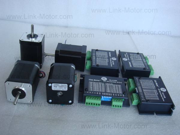 Economic 4 Axis Nema17 Stepper Motors 76N.cm (108 oz.in) & Drivers