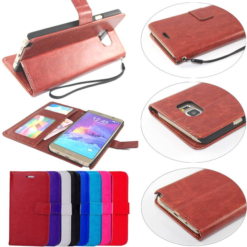 Wallet Stand Magnetic PU Leather Case Flip Cover for Samsung Galaxy Note 5 SGN5C18