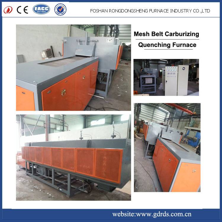 Continuous mesh belt gas carburizing quenching and tempering furnace for black screws