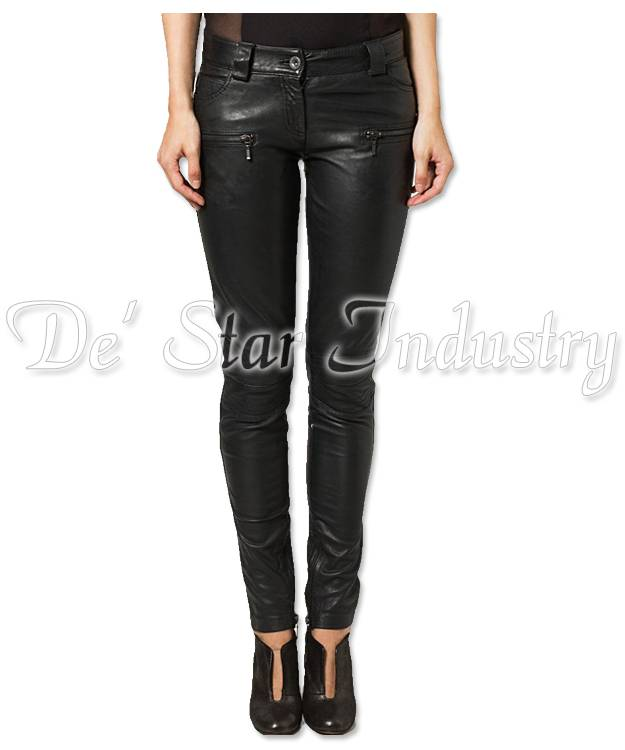 Women Fashion Leather Pants