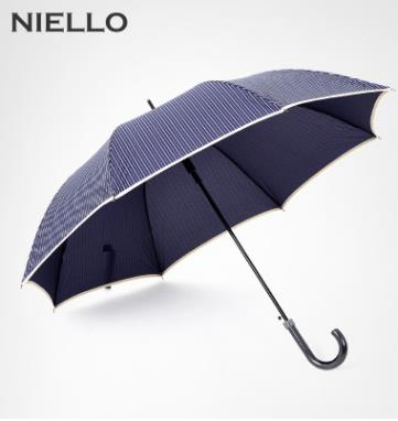 "NIELLO Straight umbrella,25""large,Busniess man simple stripe umbrella"