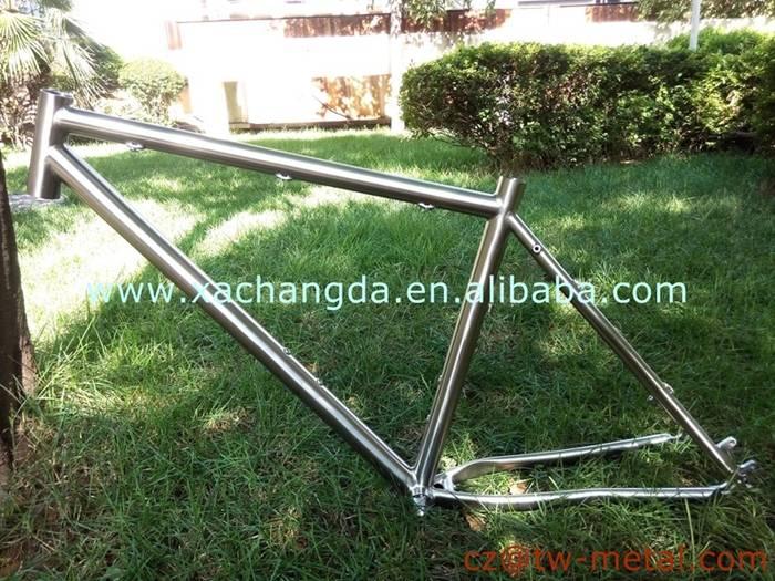 Customized Ti mtb bike frame titanium mountain bicycle parts with disc brake