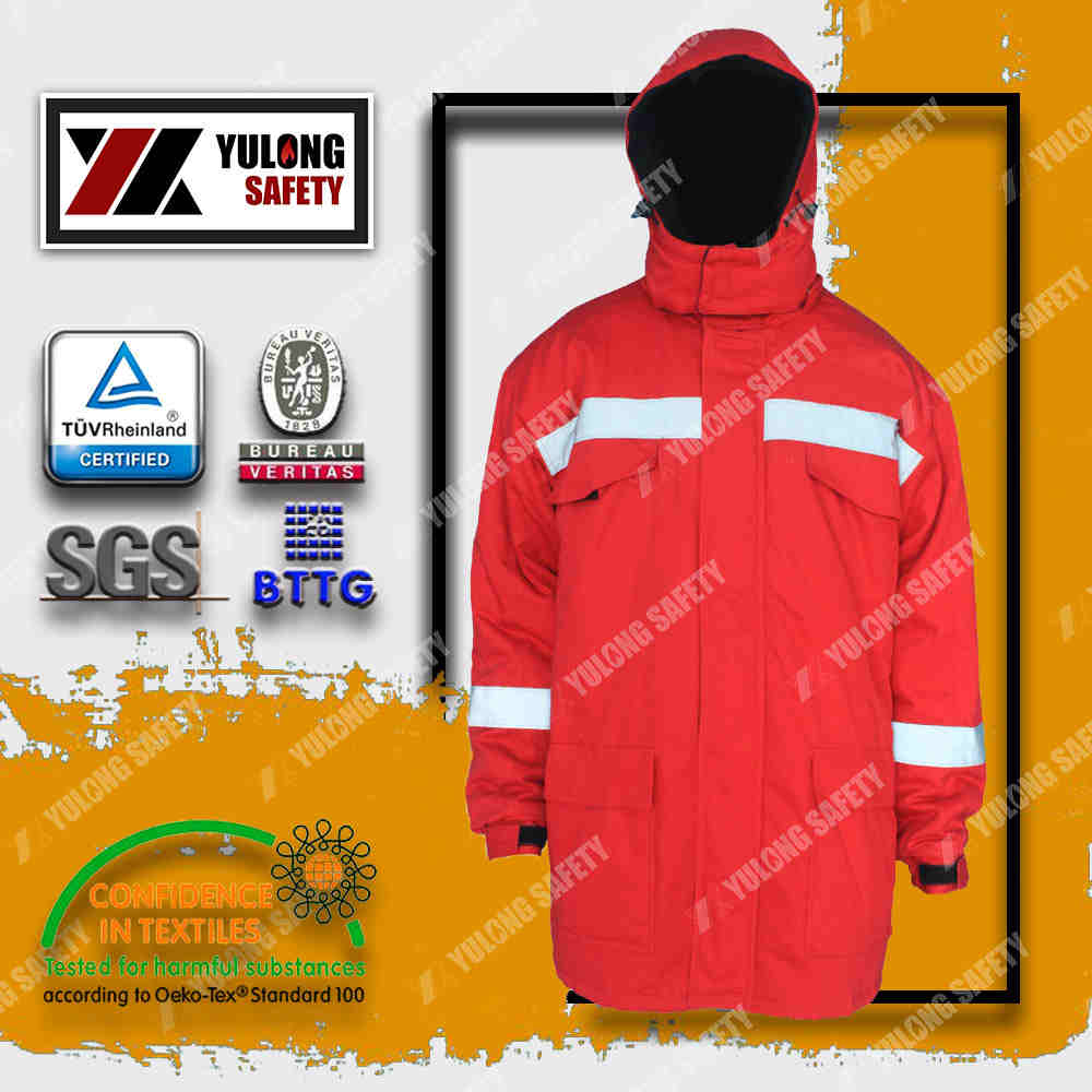 Xinxiang Yulong Textile co.,Ltd three proof clothing anti acid&alkali anti oil anti water workwear