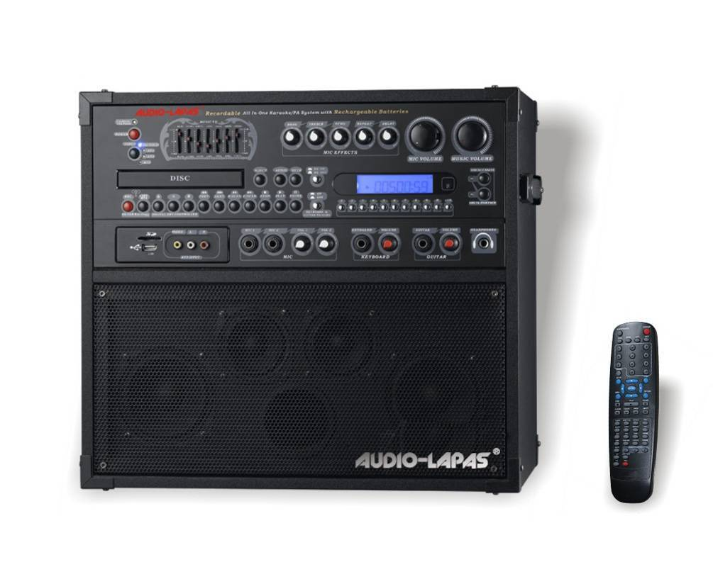 Portable All-in-one karaoke system/PA system