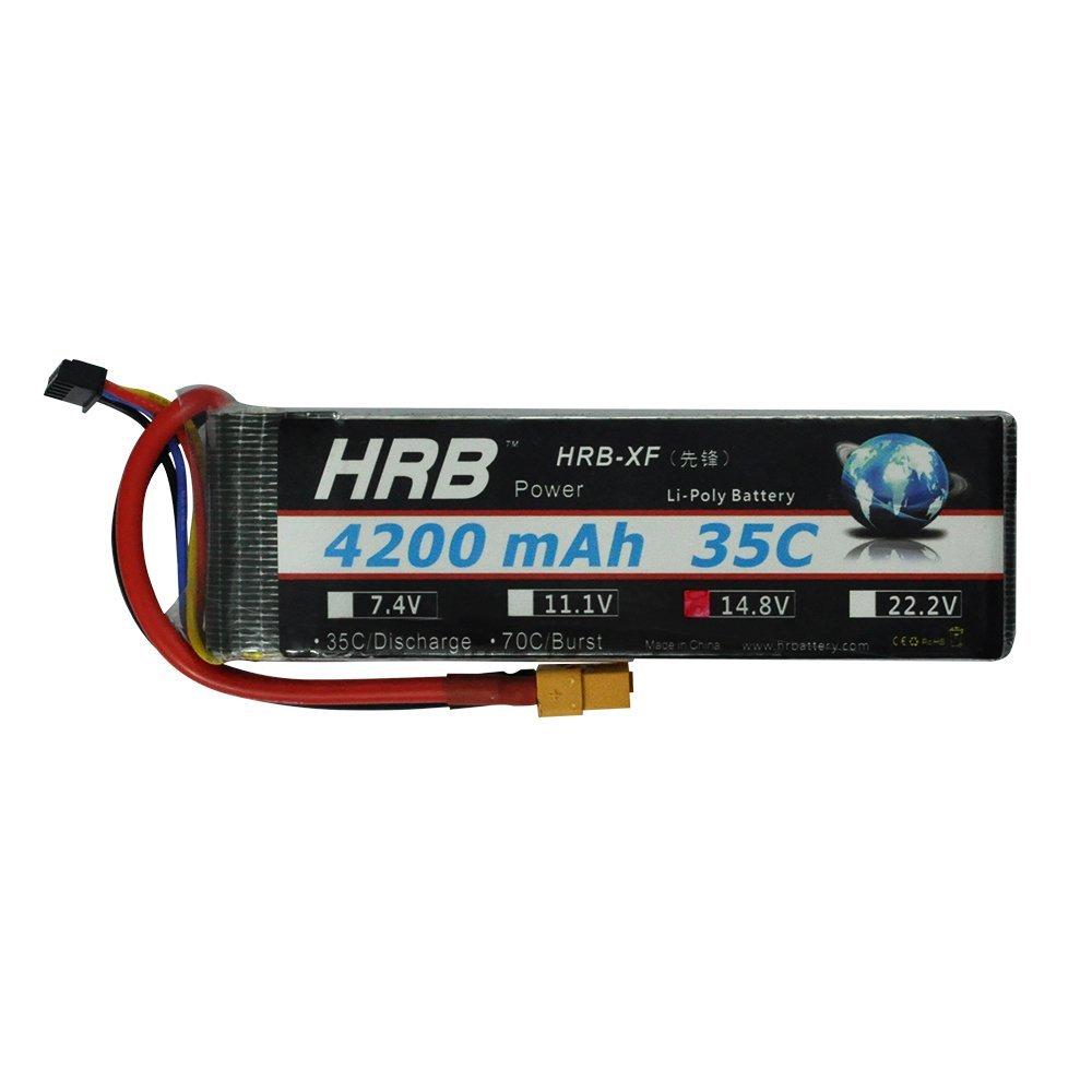 HRB 1x 4S 14.8v 4200mAh 35C XT60 Plug Multi-Rotor FPV Lipo Battery RC Quadcopter & invite agents