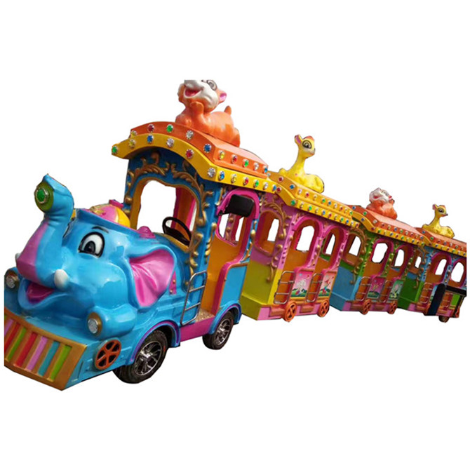 indoor outdoor electric trackless train ride for kids