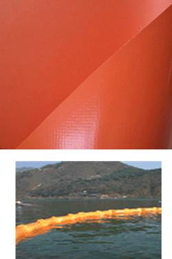 PVC Coated Fabric Tarpaulin For Oil containment boom