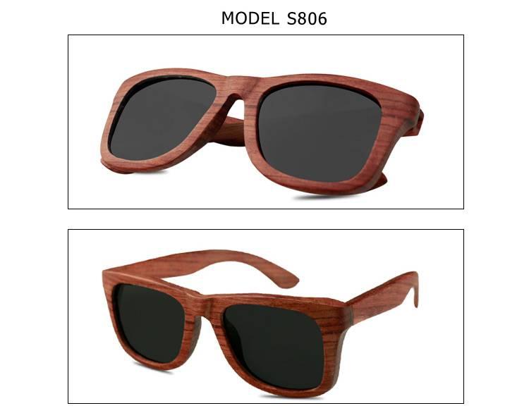 Custom Wood Glasses with Polarized Lenses