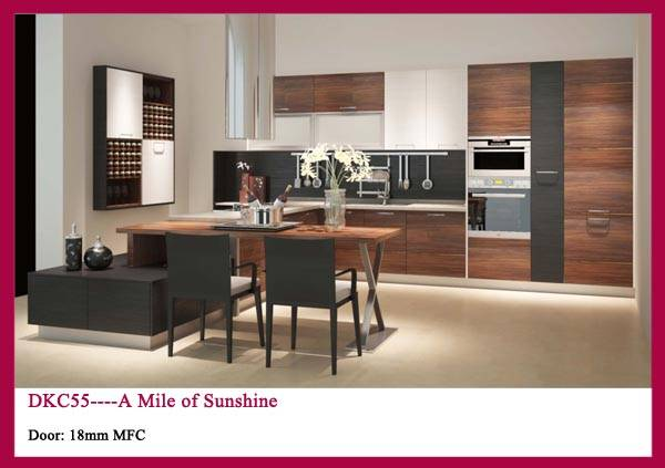 Customized European Style MFC Kitchen cabinet