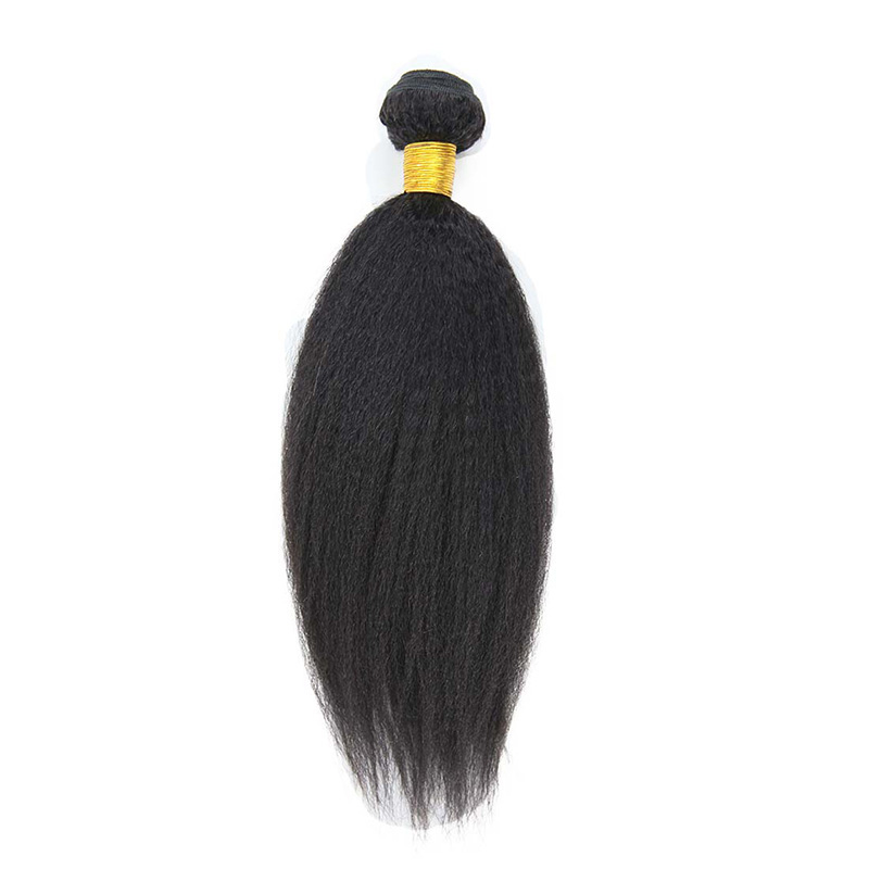 8A Brazilian Kinky Straight 1 Bundle Human Virgin Hair Weave