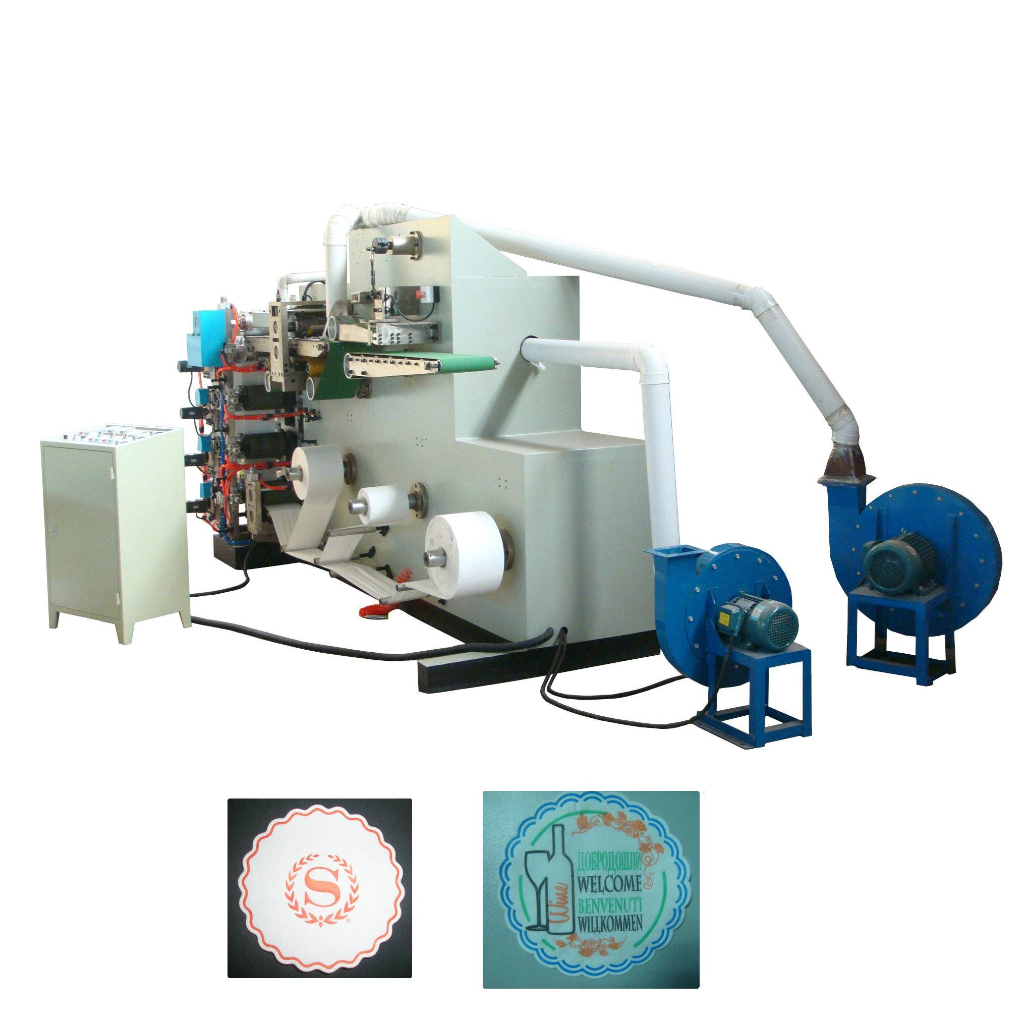 2014 Newest Full Automatic Tissue Paper Coaster Making Machine