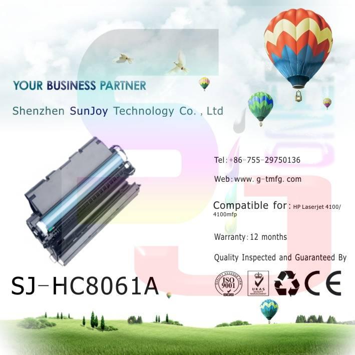 Sunjoy 61X toner cartridge C8061X compatible for HP Laserjet 4100 4100mfp