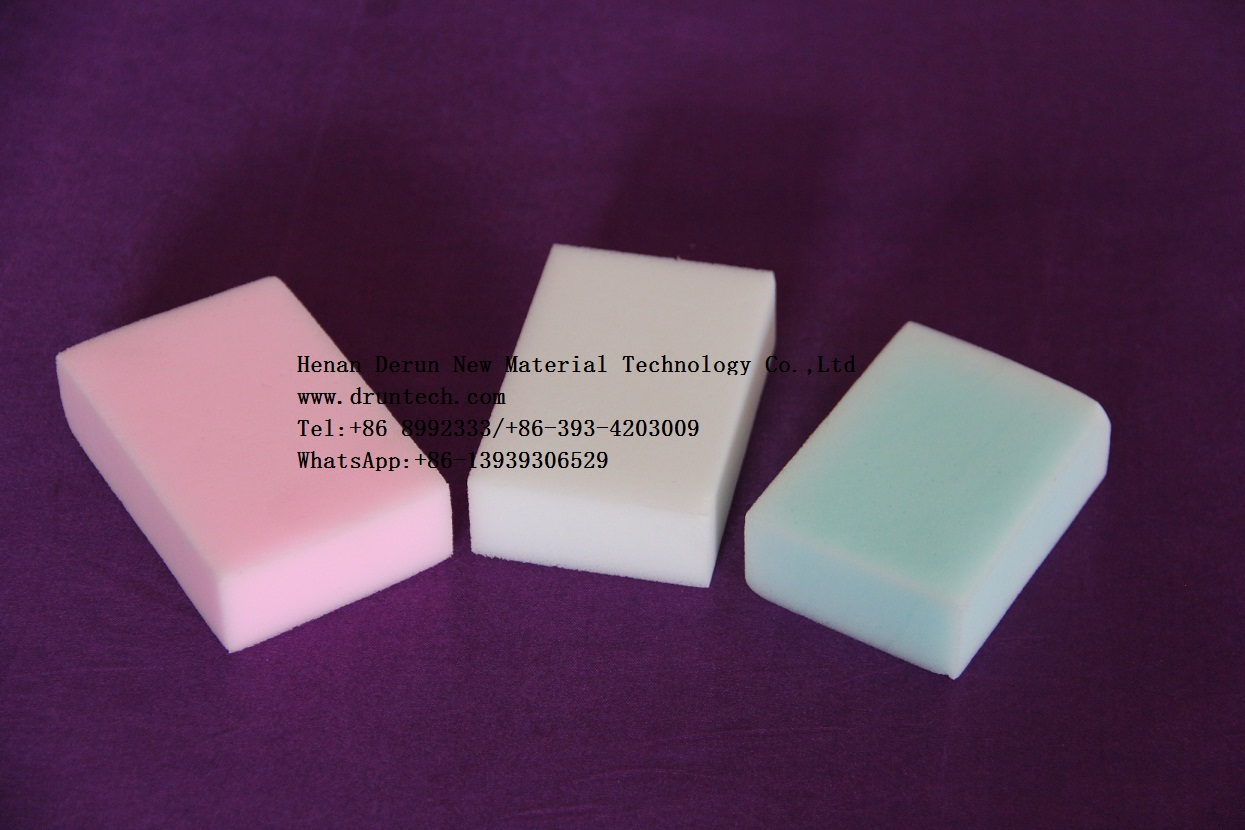 Common density cleaning melamine foam magic eraser scouring cloth