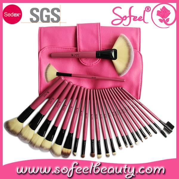 Sofeel 2015 makeup brush set 24pcs high quality cheap price