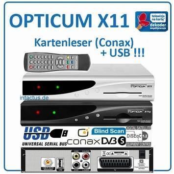 Opticum X11 satellite receiver