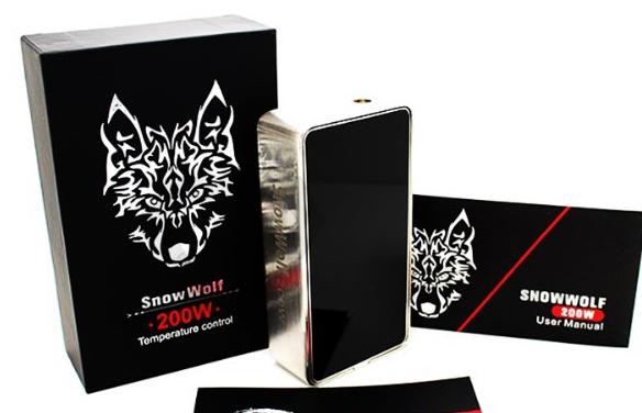 2016 best sale electronic cigarette snow wolf 200w vape mod