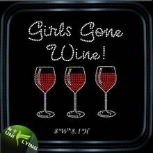 Wine Glass Hotfix Crystal Rhinestone Pattern