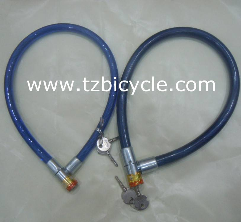 bicycle lock with cable