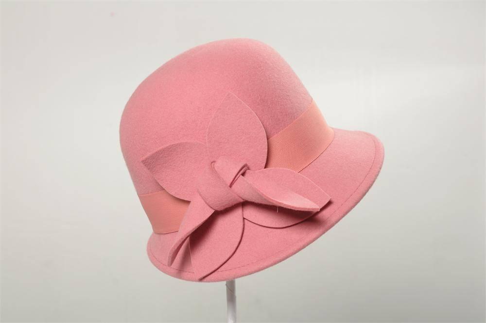 Pink Wool Felt Bucket Hat (FW013138)