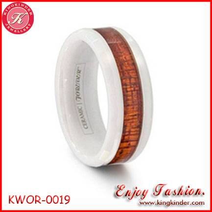 Genuine Natural Wood Ring, Wedding Ceramic Ring, Couple Ring, Wood Jewelry Wholesale