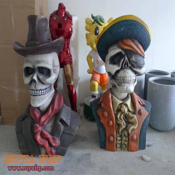 Halloween crafts,fiberglass festival decoration, ghost sculpture
