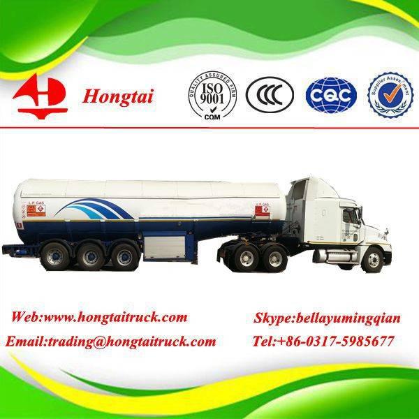 3 axle good quality LPG tanker semi trailer for sale