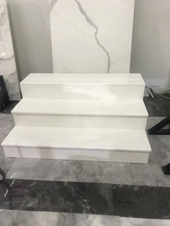 Golden Phoenix Super Nano White Glass Staircase