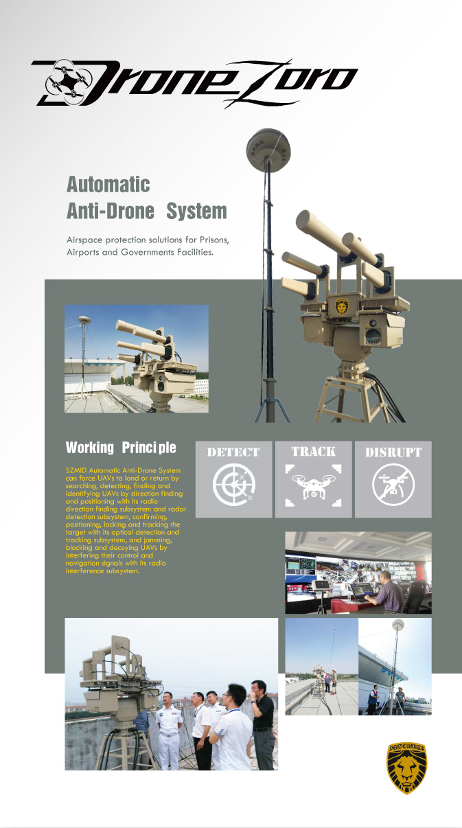 Detect, Track & Disrupt Counter UAV System