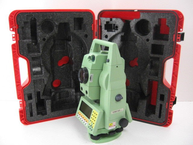 "USED LEICA TCRA1103+ 3"" ROBOTIC REFLECTORLESS TOTAL STATION WITH POWERSEARCH SURVEY"
