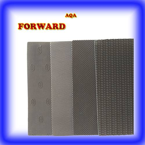 China factory black design rubber sheet for soles