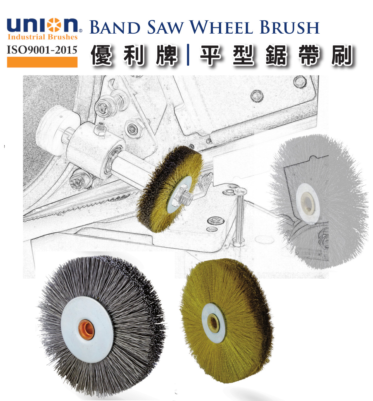 UNION BRUSH- Band Saw Wheel Brush