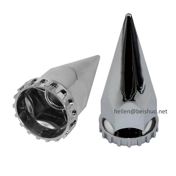 32/33mm Bullet Nut Cover thread on wheels chromed alloy trim stainless steel wheel nut covers
