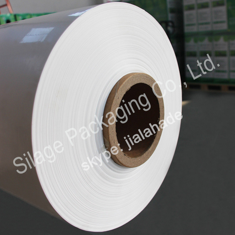 Opaque White, 750mm25mic1800mm Agriculture Packng Fil, Bale Wrap Plastic Film